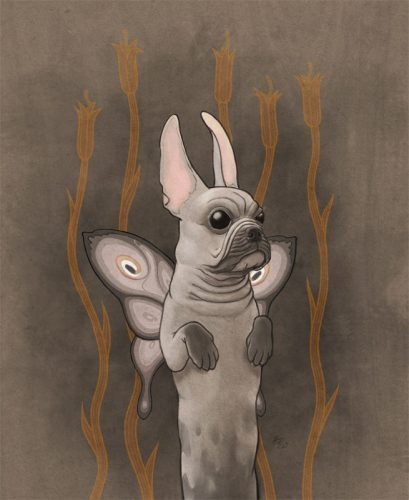 french bulldog with butterfly wings